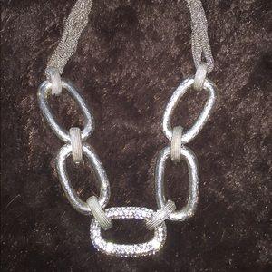 Jewelry - Fun costume necklace w diamonique bling